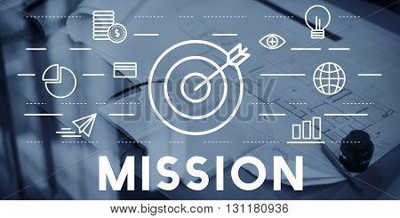 Mission Goals Aim Aspiration Concept