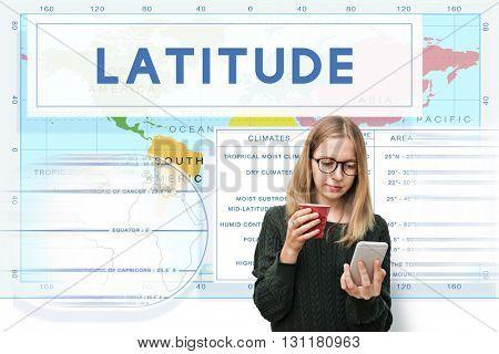 Longtitude Laitude World Cartography Concept