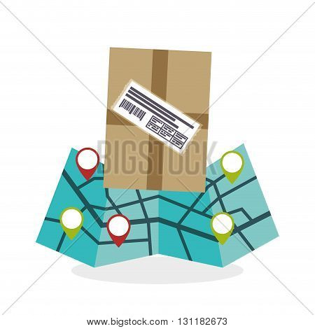 Delivery concept with icon design, vector illustration 10 eps graphic.