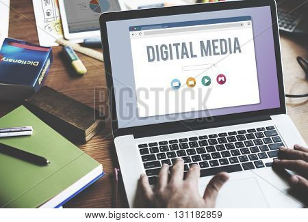 Digital Media Connection Information Internet Concept