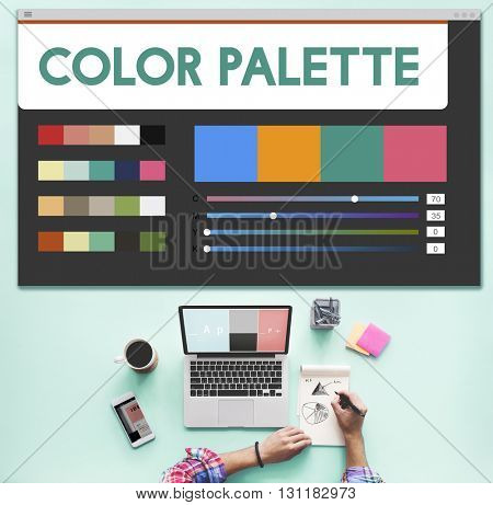 Color Palette Design Work Computer Concept