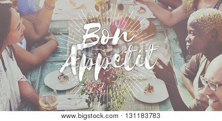 Bon Appetit Food Delicious Meal Concept Enjoy Your Meal