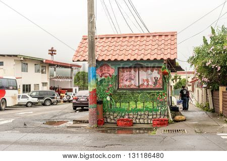 Boquete Panama - November 19 2015: Fast food outlet in the city of Boquete in Panama