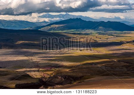 Sinchulagua Volcano range Andean Highlands of Ecuador South America