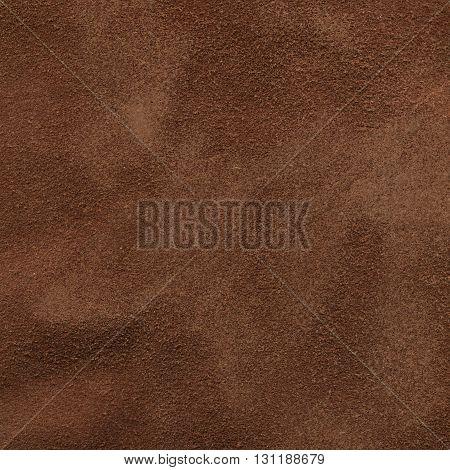 Closeup dark brown suede texture for background