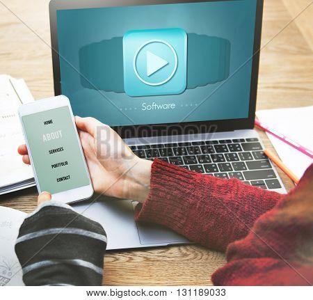Software Data Digital Internet System Technology Concept