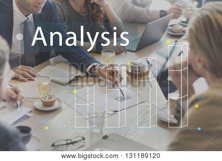 Bar Graph Statistics Analysis Business Concept