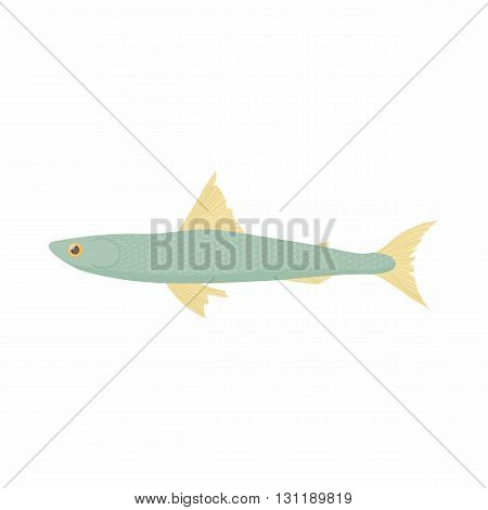 Smelt icon in cartoon style isolated on white background. Sea and ocean symbol