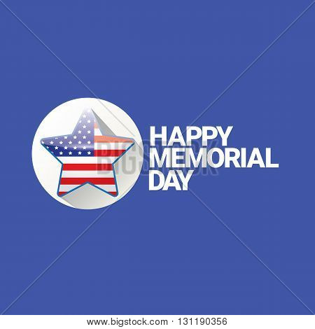 Happy Memorial Day banner . memorial day card. usa memorial day sticker or layout
