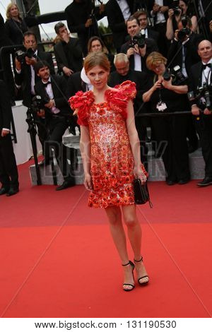 Clemence Poesy attends the Closing Ceremony of the 69th annual Cannes Film Festival at the Palais des Festivals on May 22, 2016 in Cannes, France.
