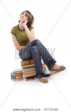 Portrait of a styled professional model. Theme: TEENS, EDUCATION