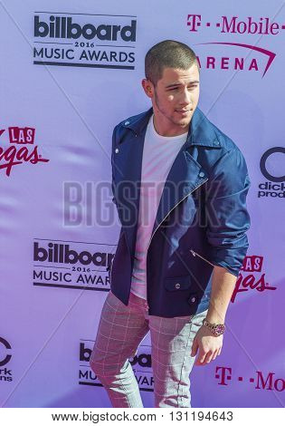 LAS VEGAS - MAY 22 : Recording artist Nick Jonas attends the 2016 Billboard Music Awards at T-Mobile Arena on May 22 2016 in Las Vegas Nevada.
