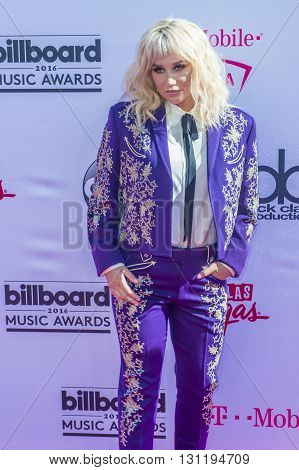 LAS VEGAS - MAY 22 : Recording artist Kesha attends the 2016 Billboard Music Awards at T-Mobile Arena on May 22 2016 in Las Vegas Nevada.