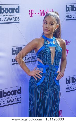 LAS VEGAS - MAY 22 : Singer Ariana Grande attends the 2016 Billboard Music Awards at T-Mobile Arena on May 22 2016 in Las Vegas Nevada.