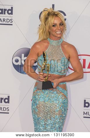LAS VEGAS - MAY 22 : Singer Britney Spears poses in the press room at the 2016 Billboard Music Awards at T-Mobile Arena on May 22 2016 in Las Vegas Nevada.