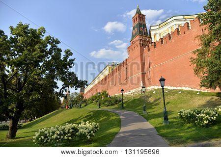 Москва, Александровский сад, кремлевская стена / Moscow, Alexander Garden, Kremlin wall