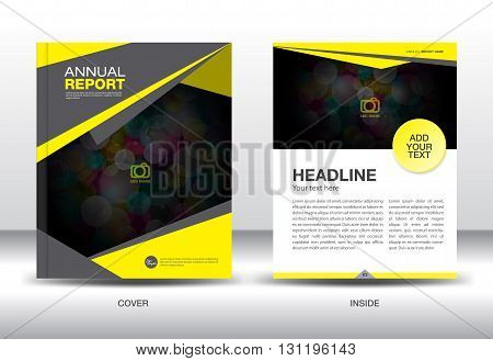 Yellow Annual report  template Cover design Brochure flyer magazine layoutnewsletterposterbookletleafletadpresentation