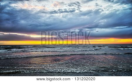 Sunset At The Baltic Sea, Hiddensee Island