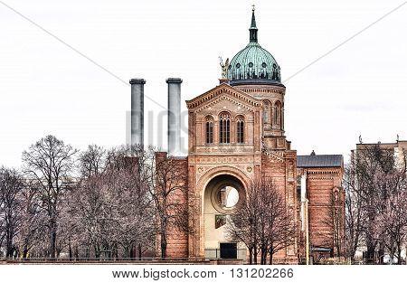 St. Michael Church Berlin Kreuzberg in winter