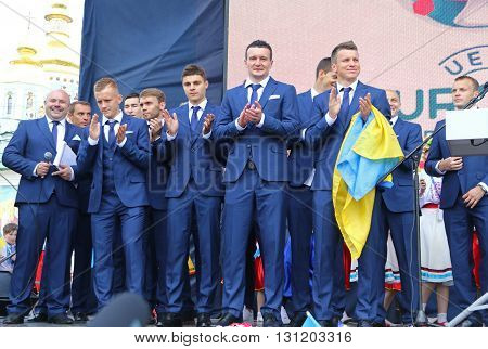 Ceremony Of The Departure Of The National Football Team Of Ukraine For The Euro-2016