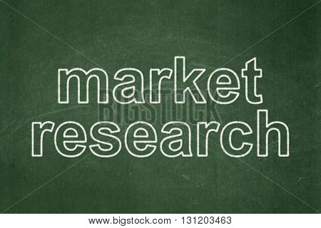 Marketing concept: text Market Research on Green chalkboard background