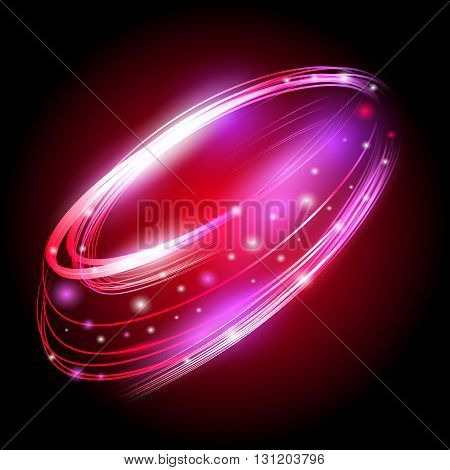 Beautiful vector light effect. Colored lights with flash. Vector background with the effect of neon and glow. Flying design elements.