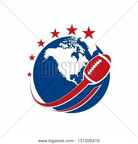 Symbol of American Football Star Championship Template