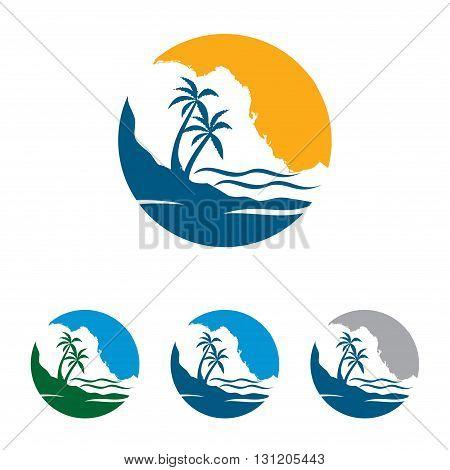 Symbol of Circle Palm Bay Beach Nature