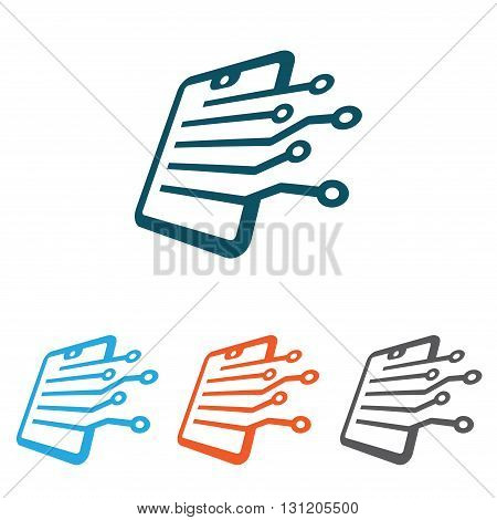 Illustration Symbol of Document Sheet Computer Technology