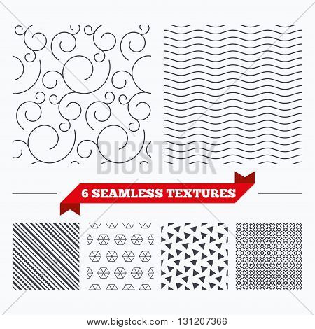 Diagonal lines, waves and geometry design. Floral ornate texture. Stripped geometric seamless pattern. Modern repeating stylish texture. Material patterns.
