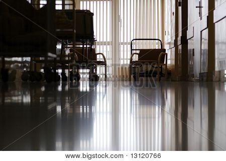 Medicine  background. Shot in a hospital.