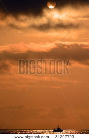 Los Muertos beach sunset sky. Puerto Vallarta, Mexico
