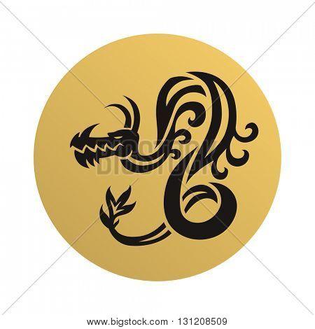 Dragon face vector illustration.