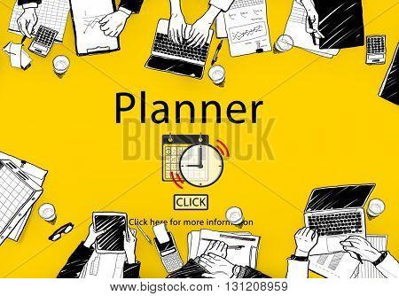 PLanner Schedule Notice Concept