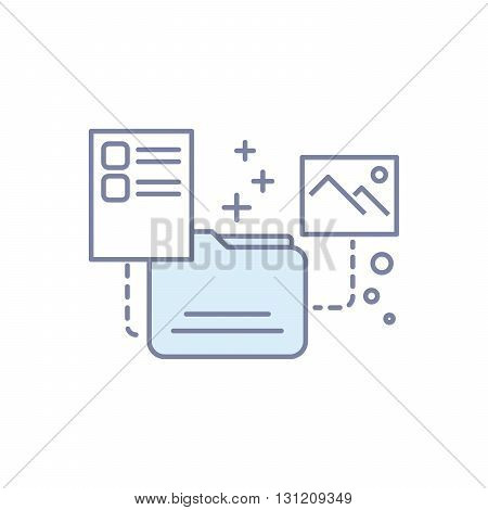 modern concept of the file icon. Flat line illustration.