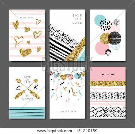 Set of greeting/ invitation cards design