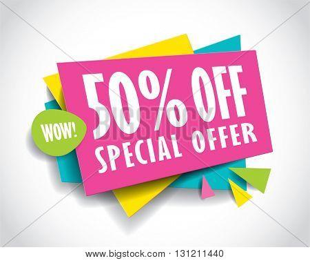 Special Offer Sale concept vector banner. sale layout design. Vector illustration.