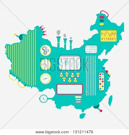 Map Of China Machine