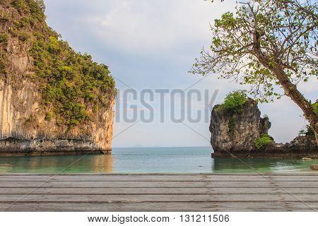 View Of Koh Hong Island Krabi,thailand