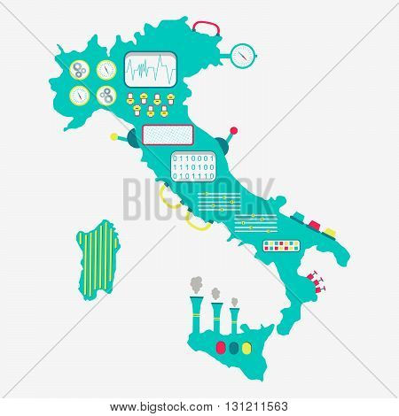Map Of Italy Machine