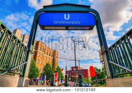 Metro Station In Berlin, Germany