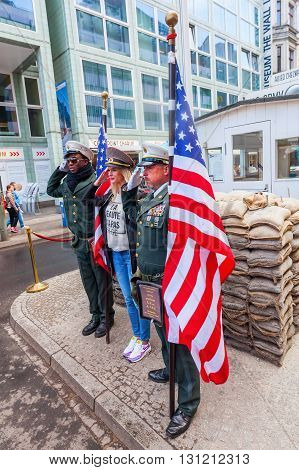 Checkpoint Charlie In Berlin, Germany