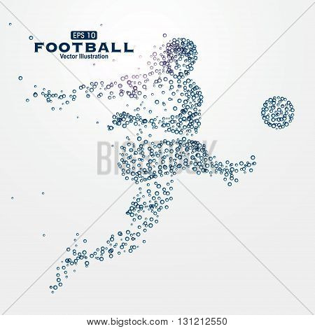 Sports Graphics particles,Hard work ahead, courage means,vector illustration.