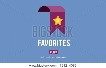 Favorites Bookmark Popular Data Technology Concept