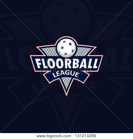 Floorball logo for the team and the cup. vector illustration
