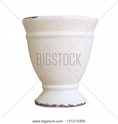 antiques pot isolated on a white background.