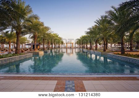 Luxury Pool. Image of the luxury pool in a hotel.