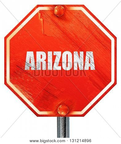 arizona, 3D rendering, a red stop sign