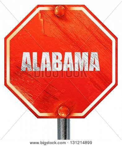 alabama, 3D rendering, a red stop sign