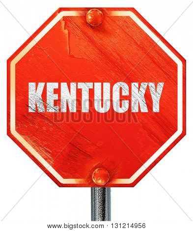 kentucky, 3D rendering, a red stop sign